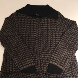 Berretti black and beige cardigan